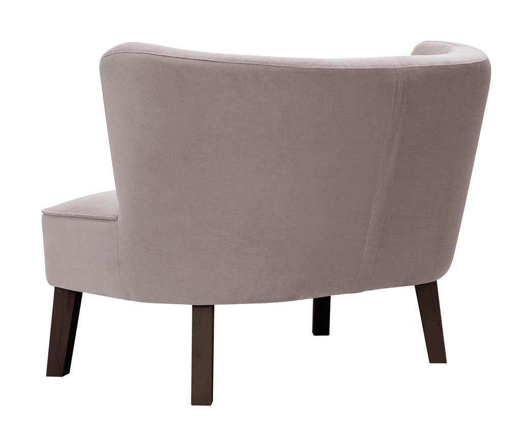 Canapea 2 locuri Organza Powder Pink