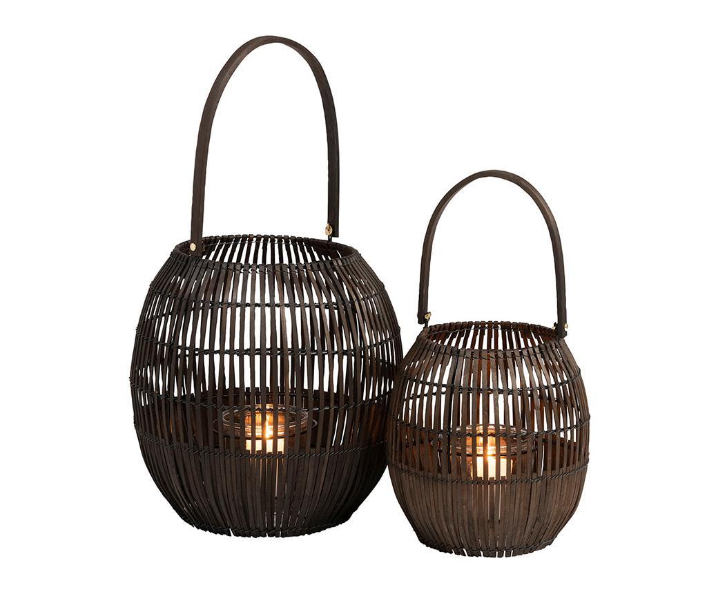 Bamboo Black Gyertyatartó