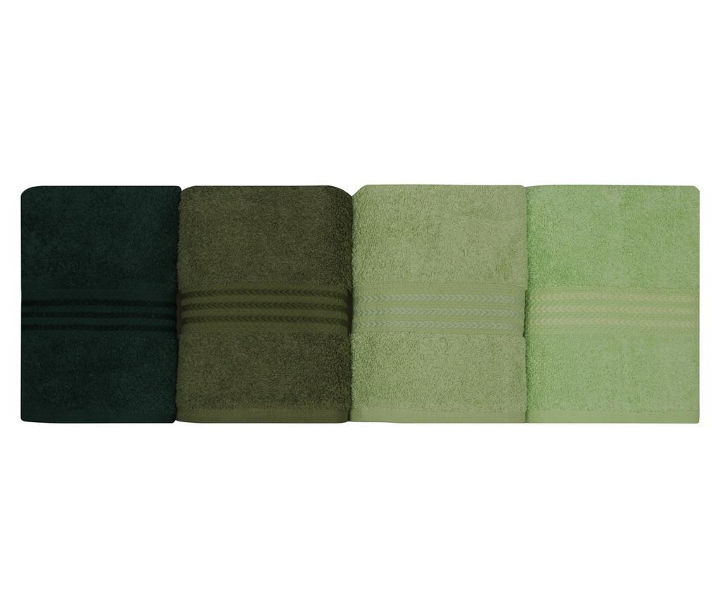 Set 4 prosoape de baie Shades Green 50x90 cm