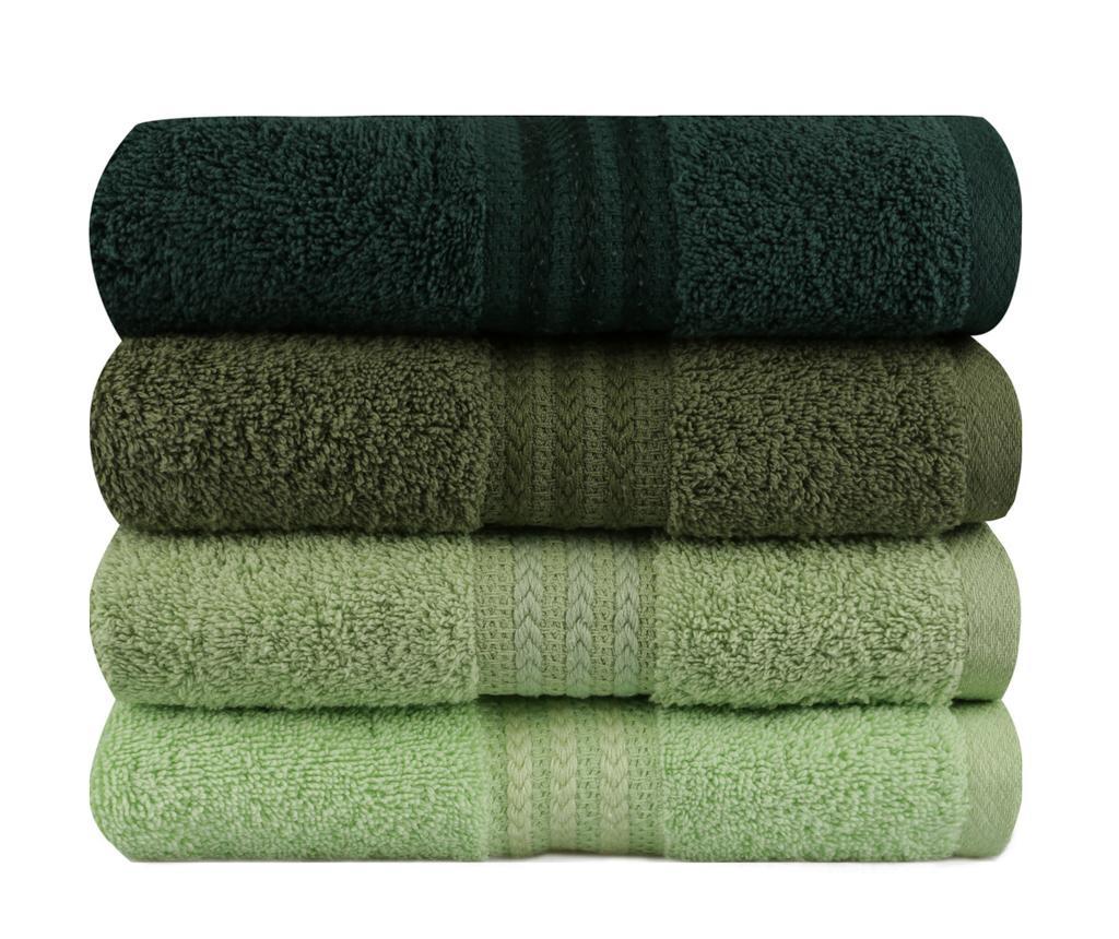 Shades Green 4 db Fürdőszobai törölköző 50x90 cm