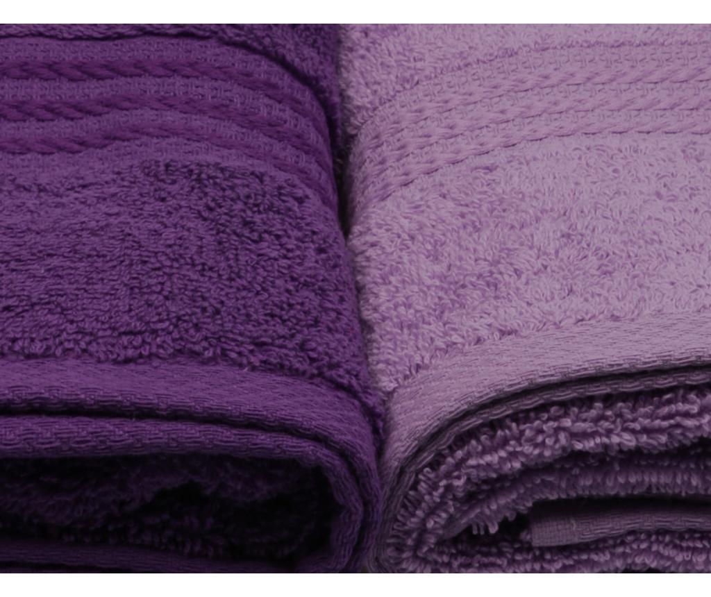 Set 4 prosoape de baie Shades Lilac 50x90 cm