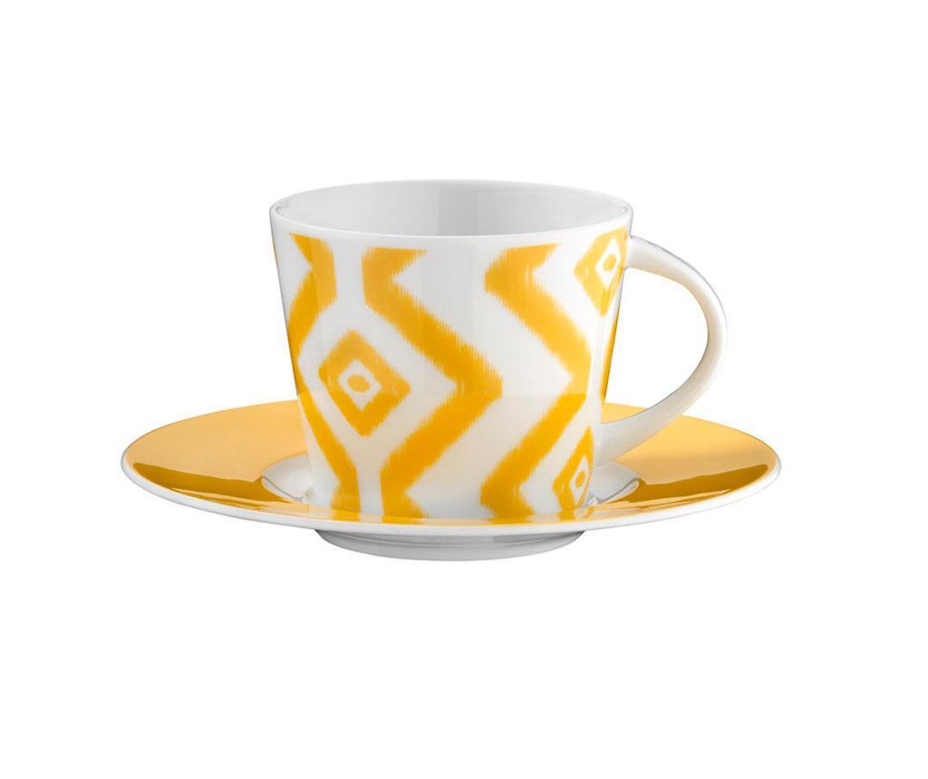 Сервиз 6 чашки и 6 чинийки Coffee Lacey