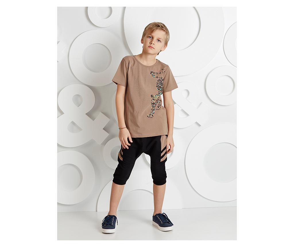 Otroški komplet - majica s kratkimi rokavi in hlače Leopard 4 years