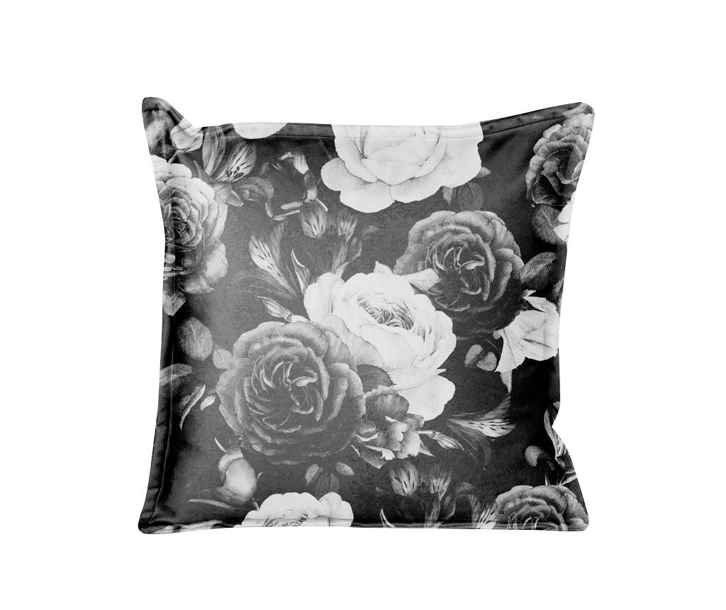 Ukrasni jastuk Black and White Flowers 45x45 cm