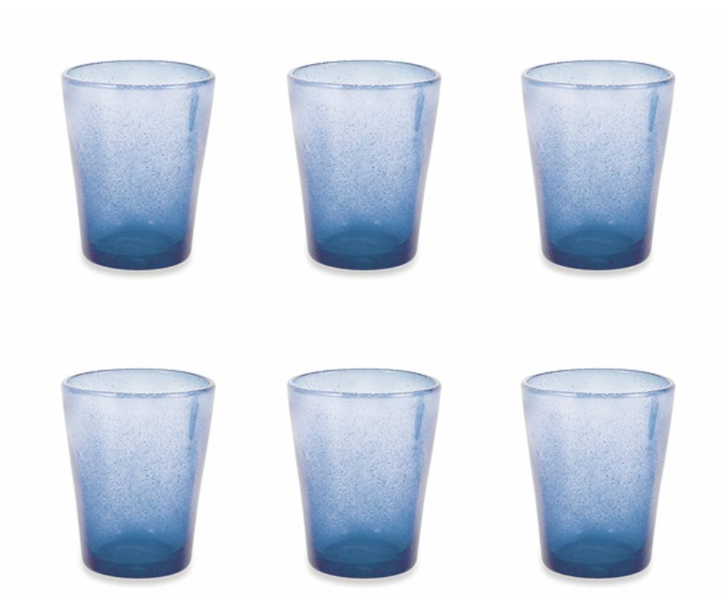 Set 6 pahare pentru apa Cancun Satin Indigo 330 ml