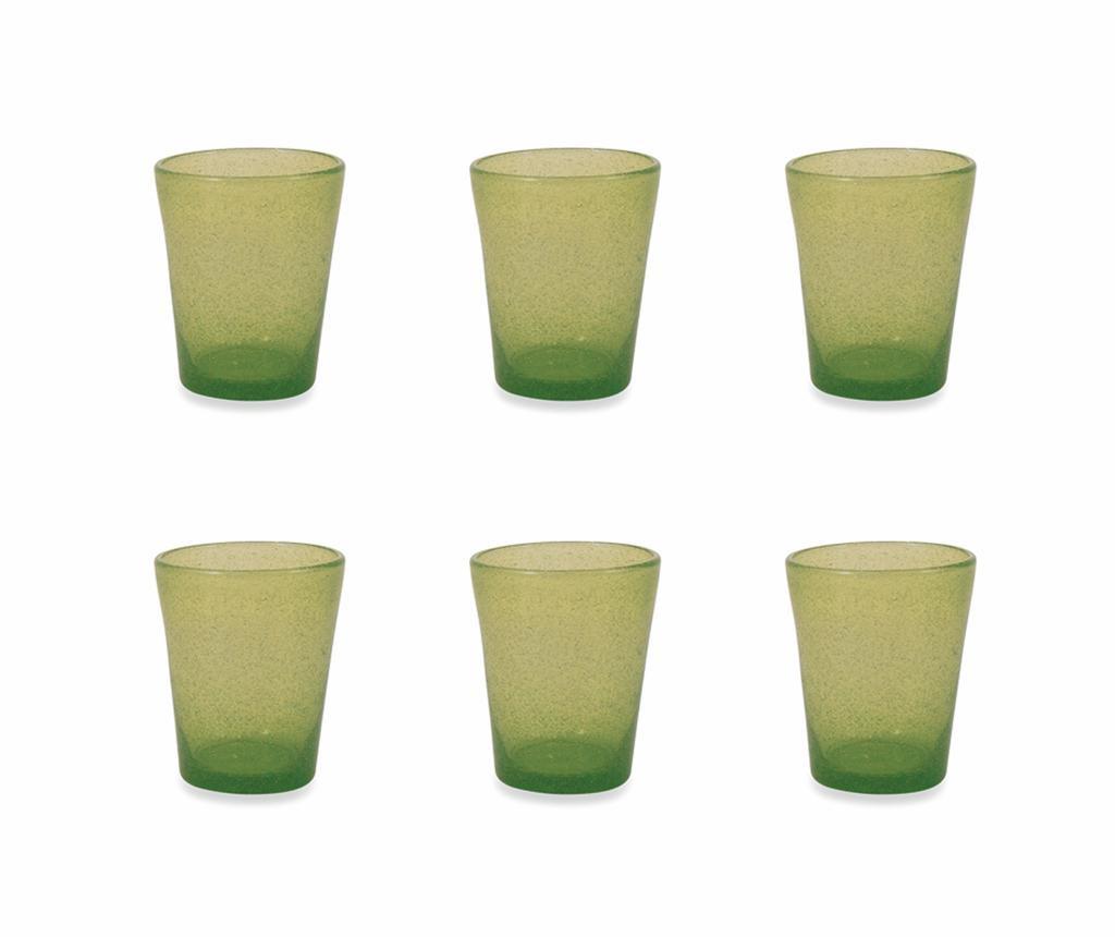 Сервиз 6 чаши за вода Cancun Satin Green 330 мл