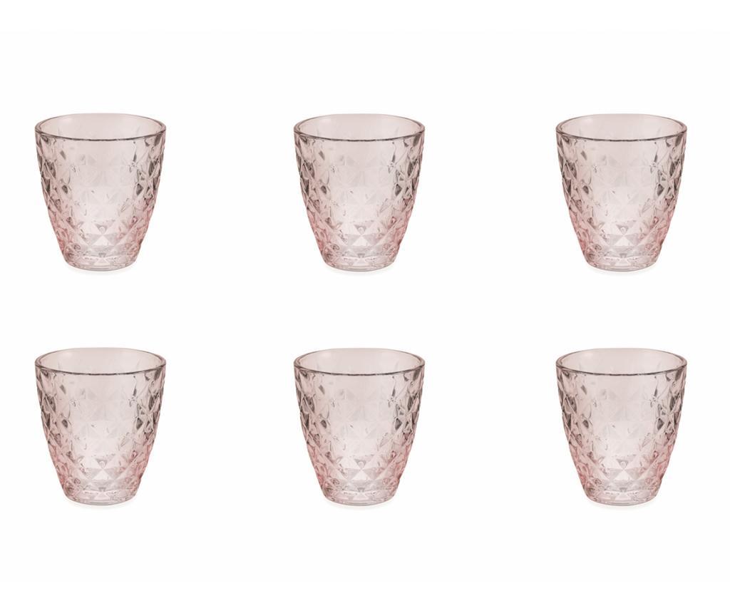 Сервиз 6 чаши за вода Fresh Pink 257 мл