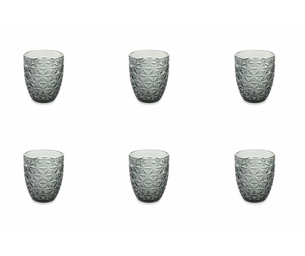 Сервиз 6 чаши за вода Gemma Black 337 мл