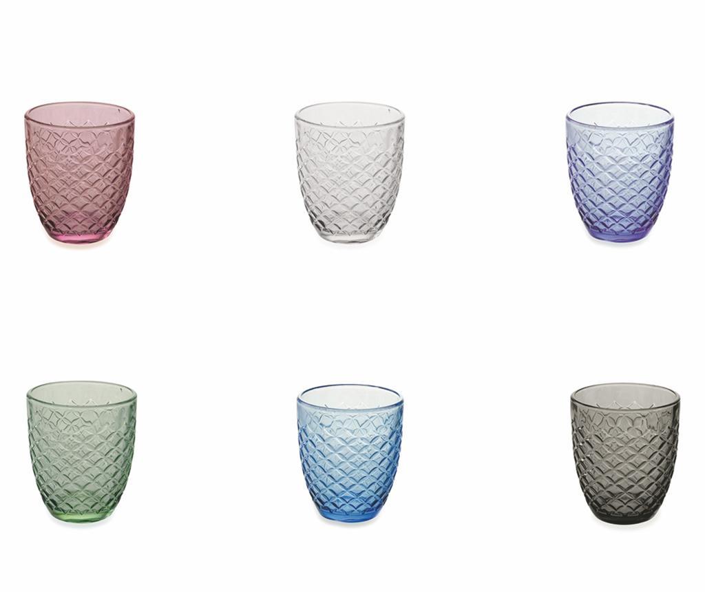 Сервиз 6 чаши за вода Spiga Rainbow 332 мл