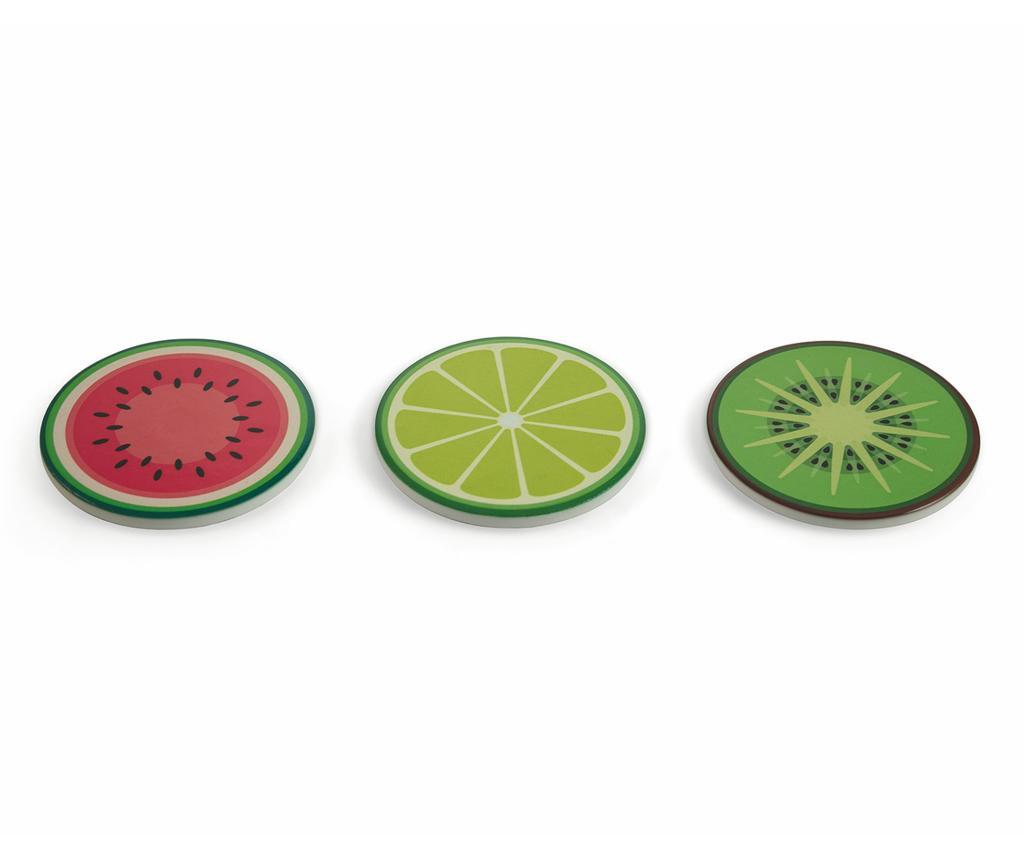 Set 3 suporturi pentru vase fierbinti Fruit