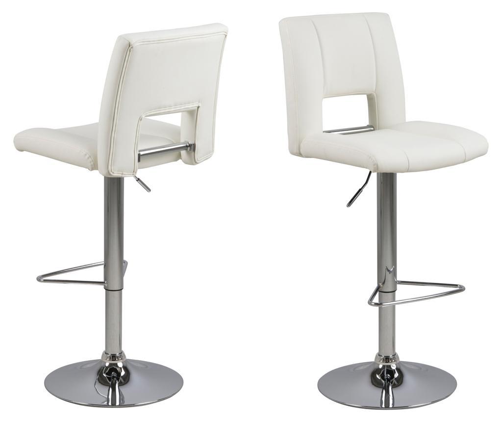 Set 2 scaune de bar Sylvia White