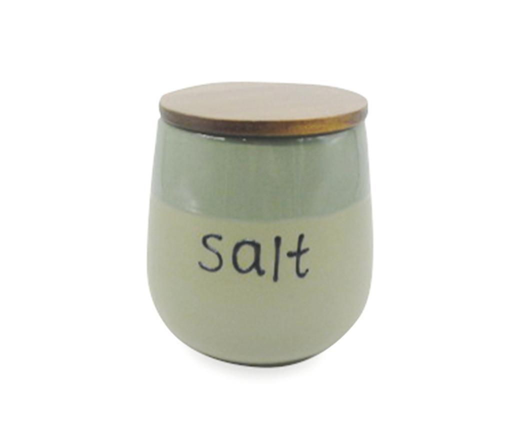 Съд с капак с херметическо затваряне за сол Mocaccino Duo Green