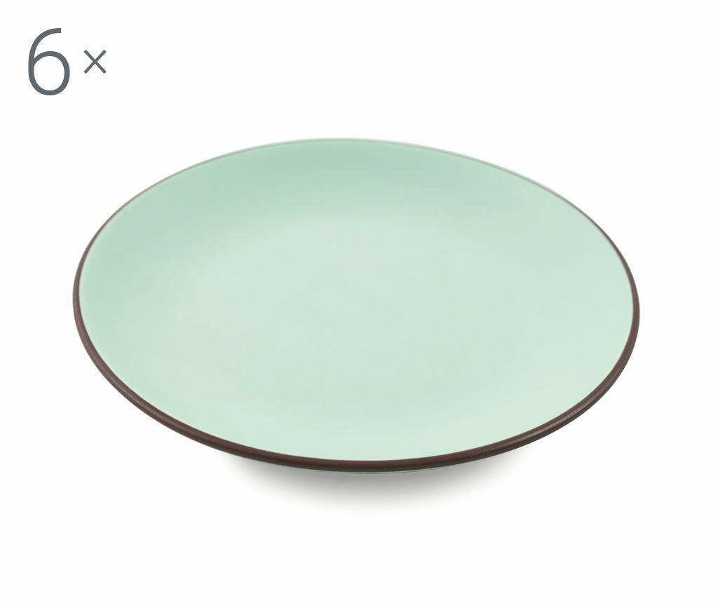 Сервиз 6 десертни чинии Kora Aquamarine