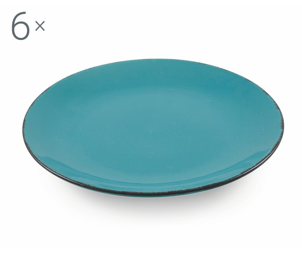 Сервиз 6 плитки чинии Baita Turquoise