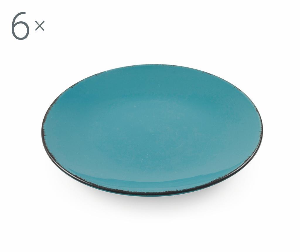 Сервиз 6 десертни чинии Baita Turquoise