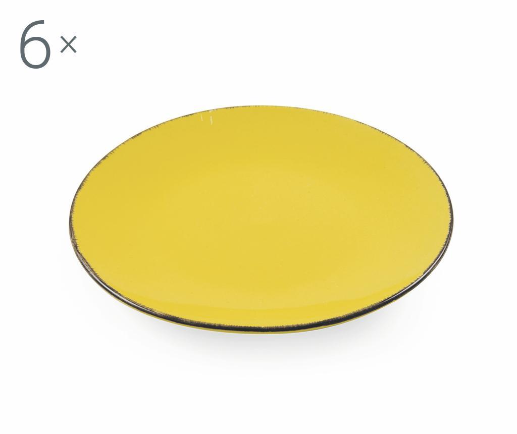 Сервиз 6 десертни чинии Baita Yellow