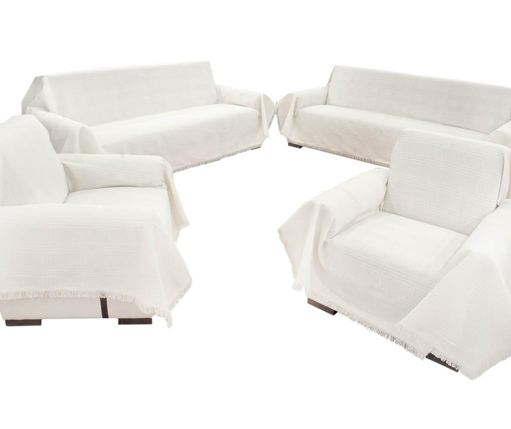 Set 4 cuverturi Sofa Cover Cream