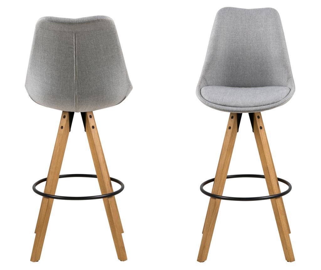 Set 2 barskih stolov Dima Corsica Light Grey