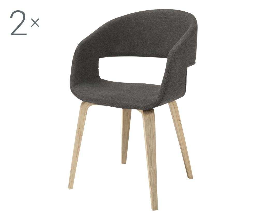 Set 2 stolice Nova Dark Grey