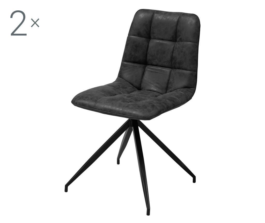 Set 2 stolice Capone Black