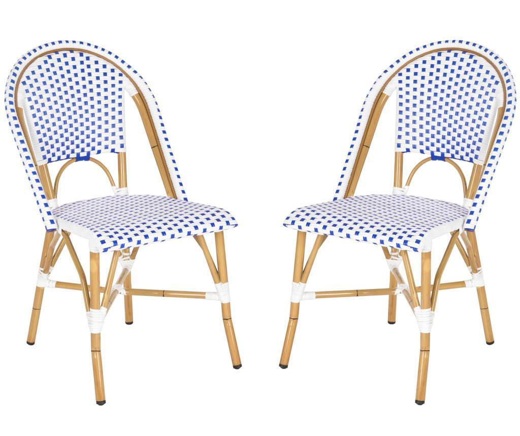 Set 2 scaune pentru exterior Adalene Blues