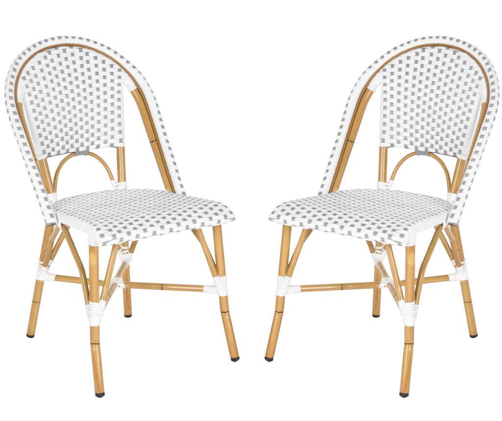 Set 2 scaune pentru exterior Adalene Greys