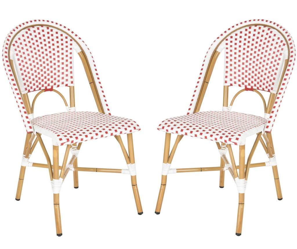Set 2 scaune pentru exterior Adalene Reds