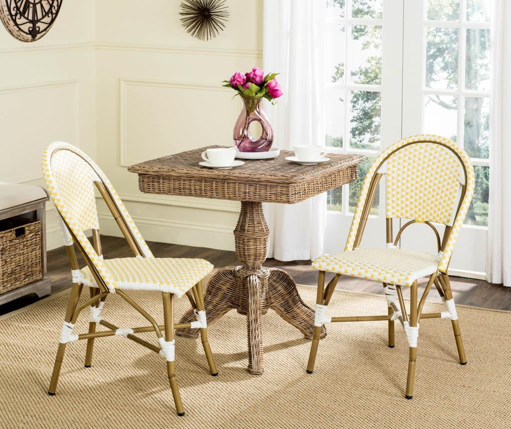 Set 2 scaune pentru exterior Adalene Yellows