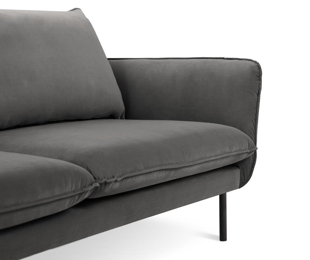 Canapea 3 locuri Vienna Dark Grey