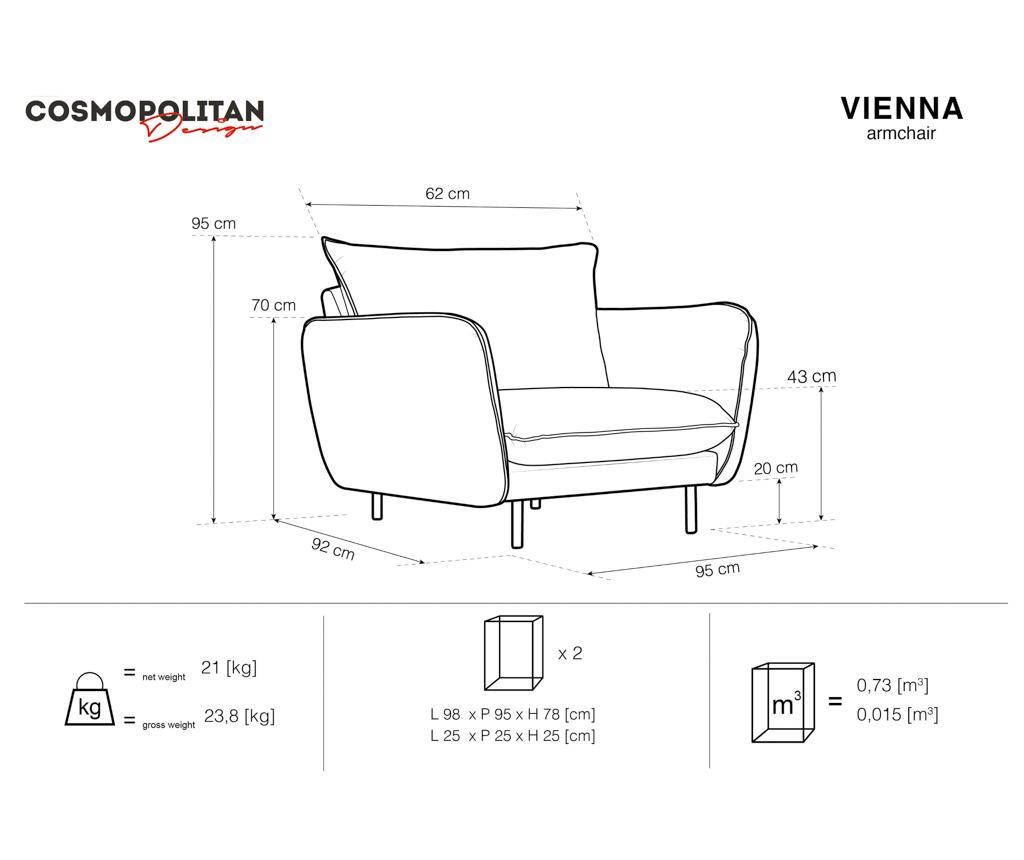 Vienna Dark Grey Fotel