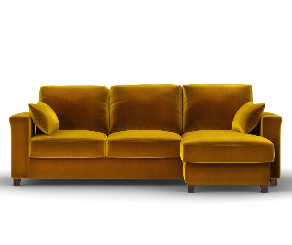 Rohová rozkladacia obojstranná pohovka Relax Gold