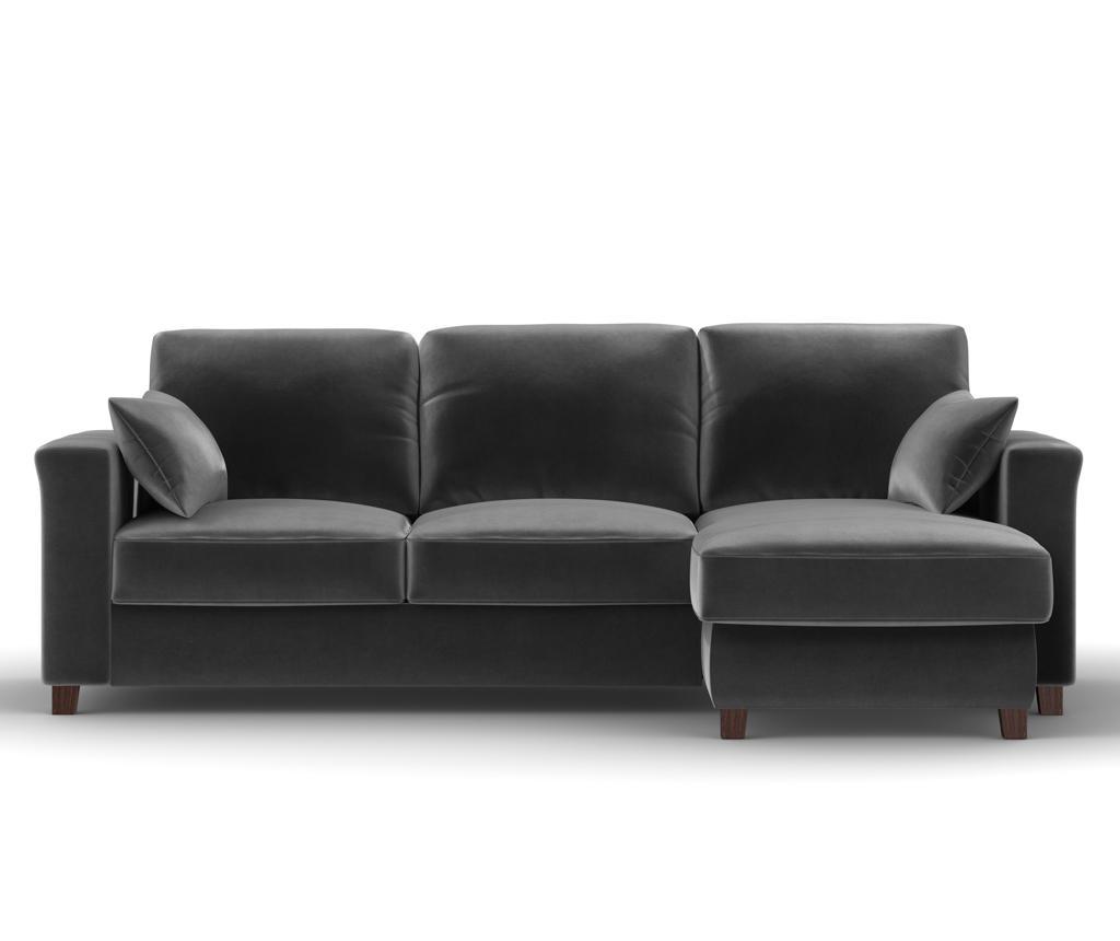 Coltar reversibil si extensibil Relax Dark Grey
