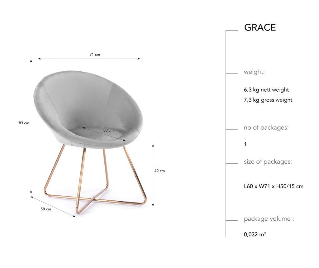 Stolica Grace Beige
