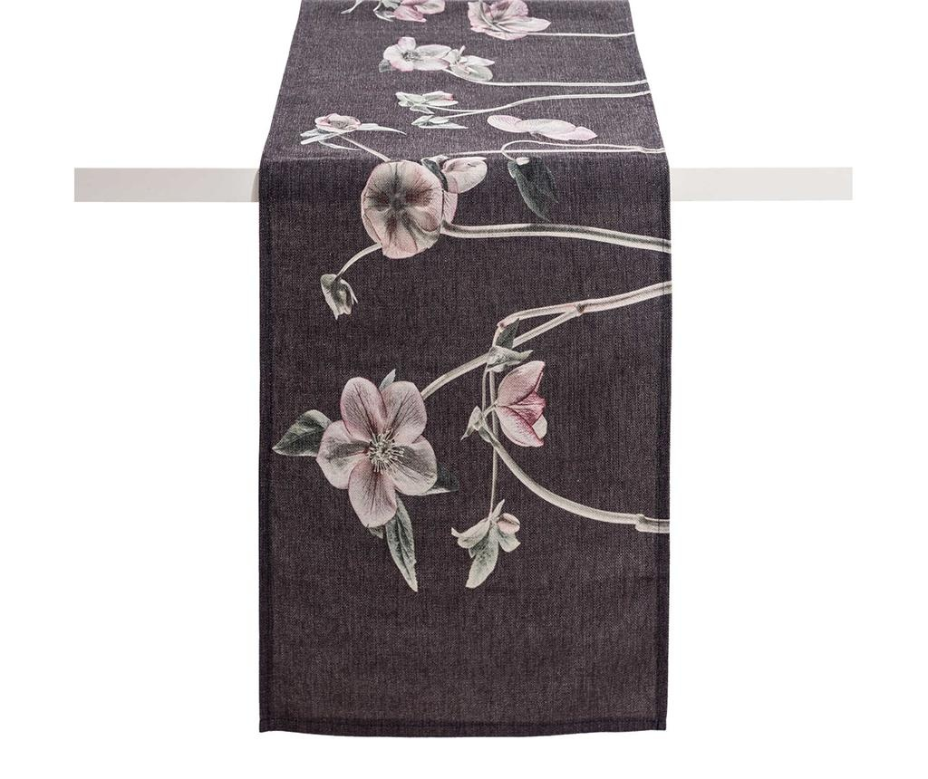 Traversa de masa Anemones Dark Grey 40x160 cm