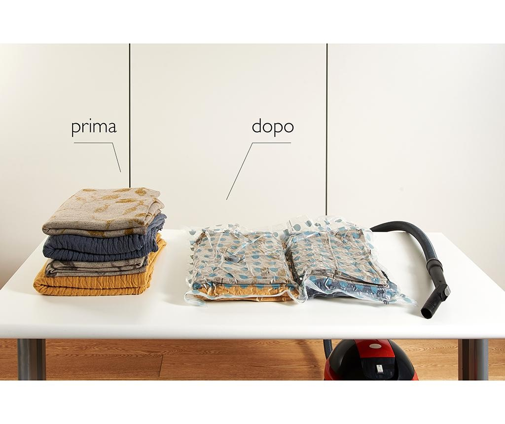 Set 2 saci pentru vidat Riducispazio Blue 50x70 cm