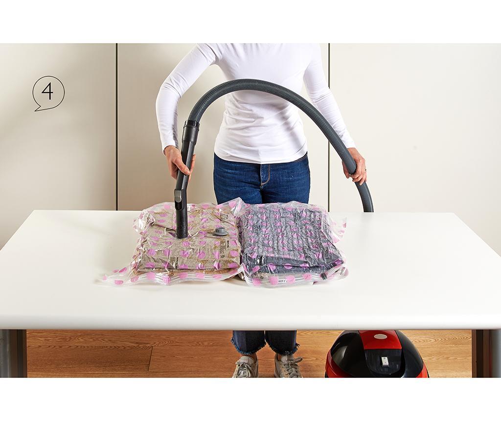 Set 2 saci pentru vidat Riducispazio Pink 50x70 cm