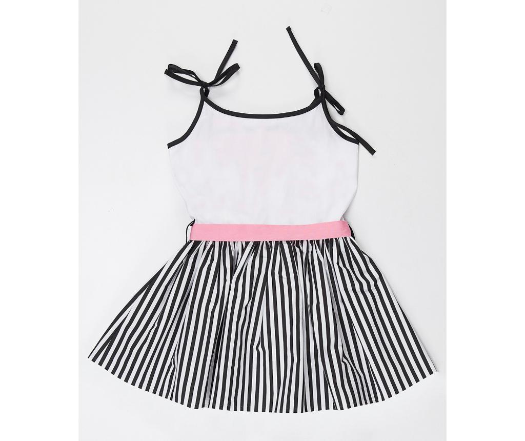 Otroška obleka Pink Cat Striped 7 let