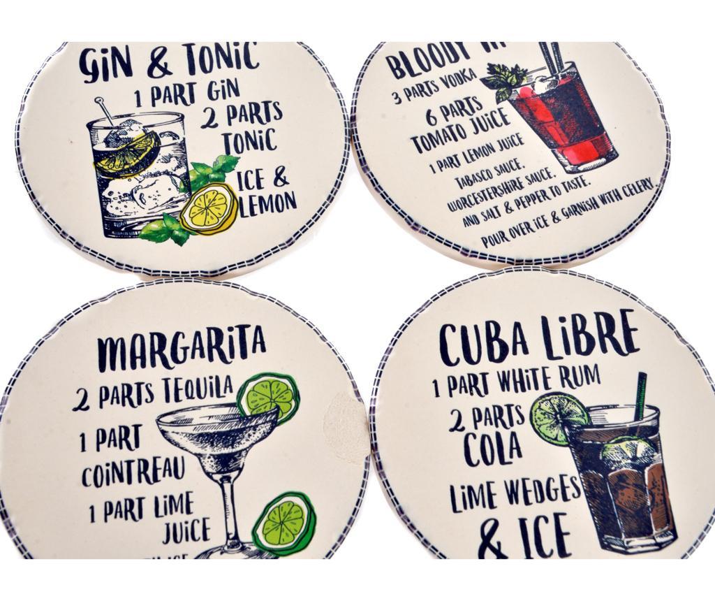 Set 4 podmetača za čaše Cocktails