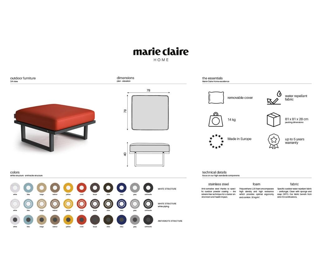 Стол за екстериор Mark Anthracite