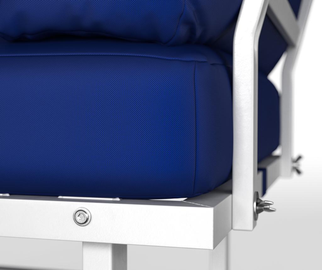 Sezlong pentru exterior Marks Royal Blue