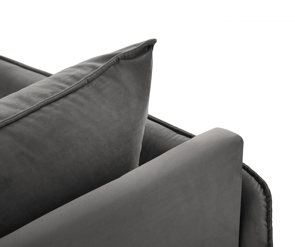 Desna ležaljka za dnevni boravak Vienna Dark Grey