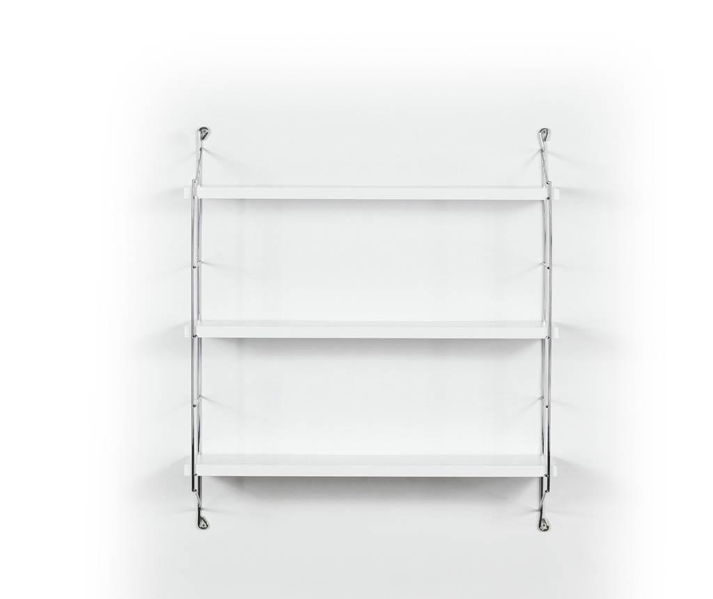 Stenska polica Illia Ladder White