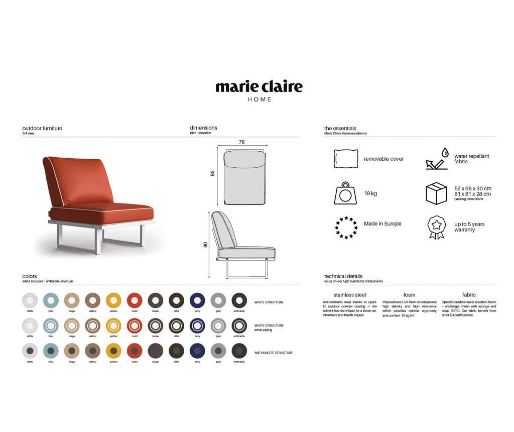 Stolica za vanjski prostor Samo Taupe