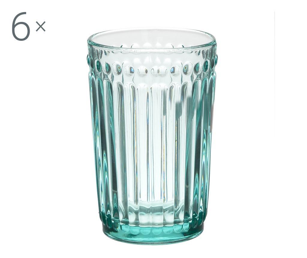 Set 6 kozarcev za vodo Clara Blue 327 ml