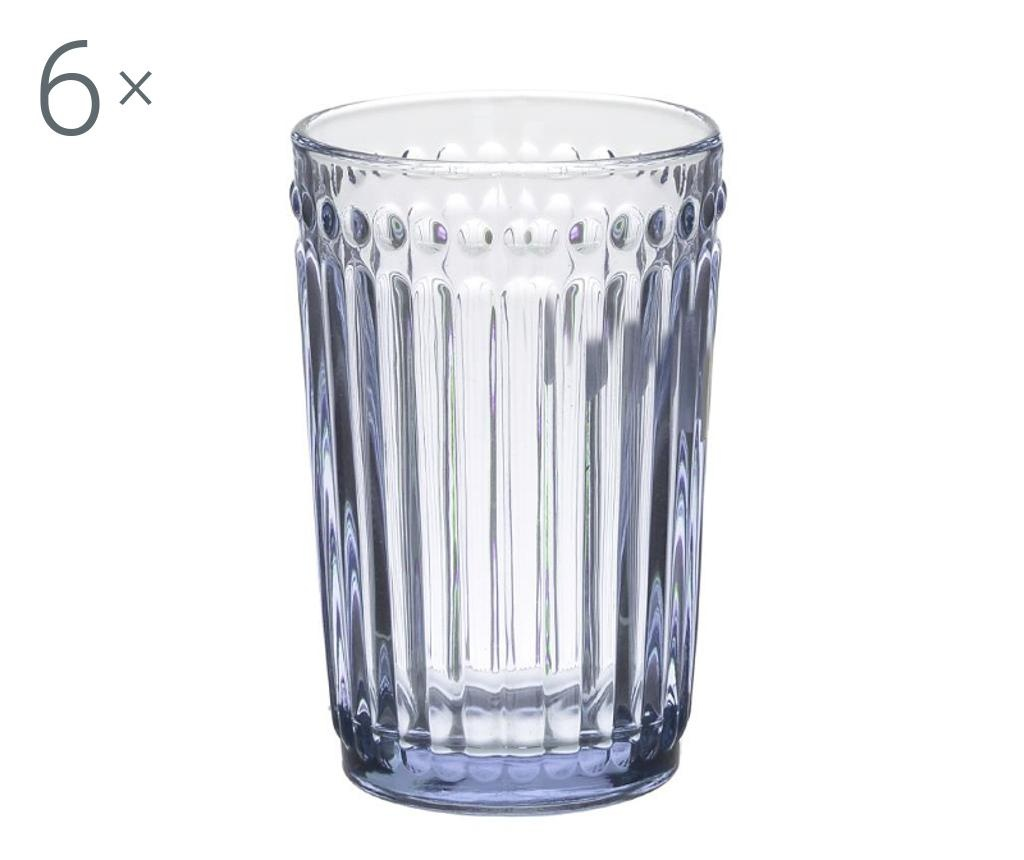Set 6 kozarcev za vodo Clara Pink 327 ml