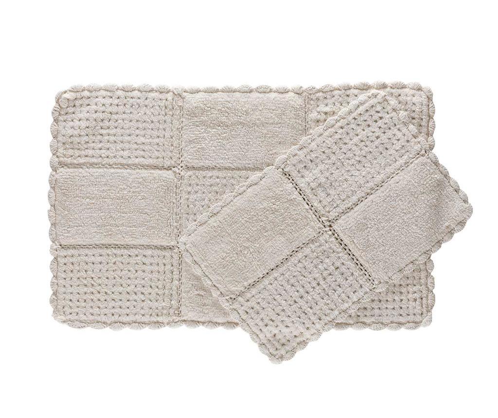 Hola Ecru 2 db Fürdőszobai szőnyeg