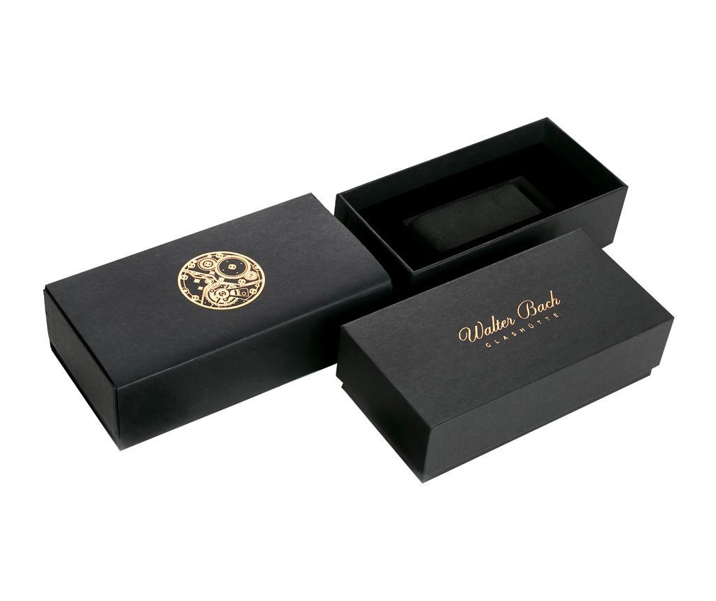 Ceas de mana barbati Oberammergau Croco Black Leather