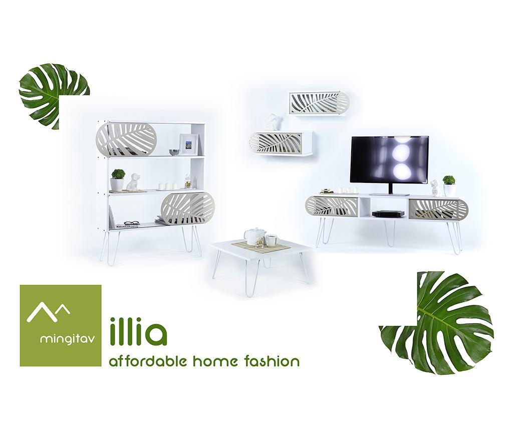 Illia White Leaves 2 db Fali polc