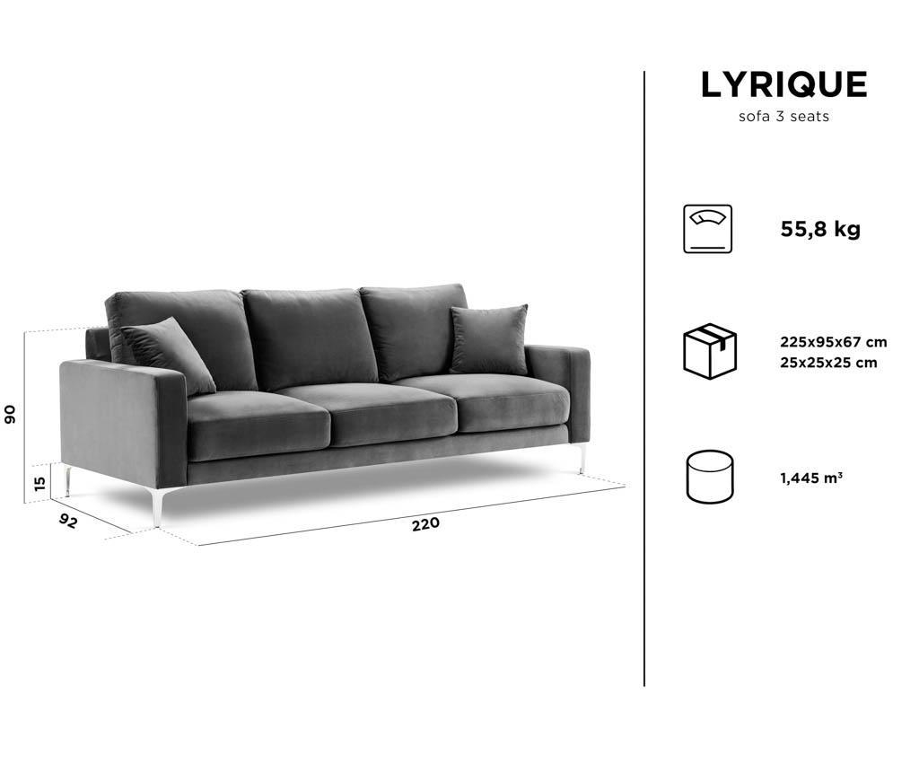 Kauč trosjed Lyrique Grey