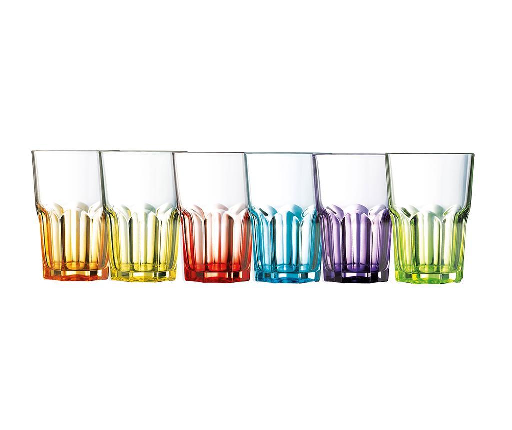 Set 6 pahare Crazy Colors 400 ml